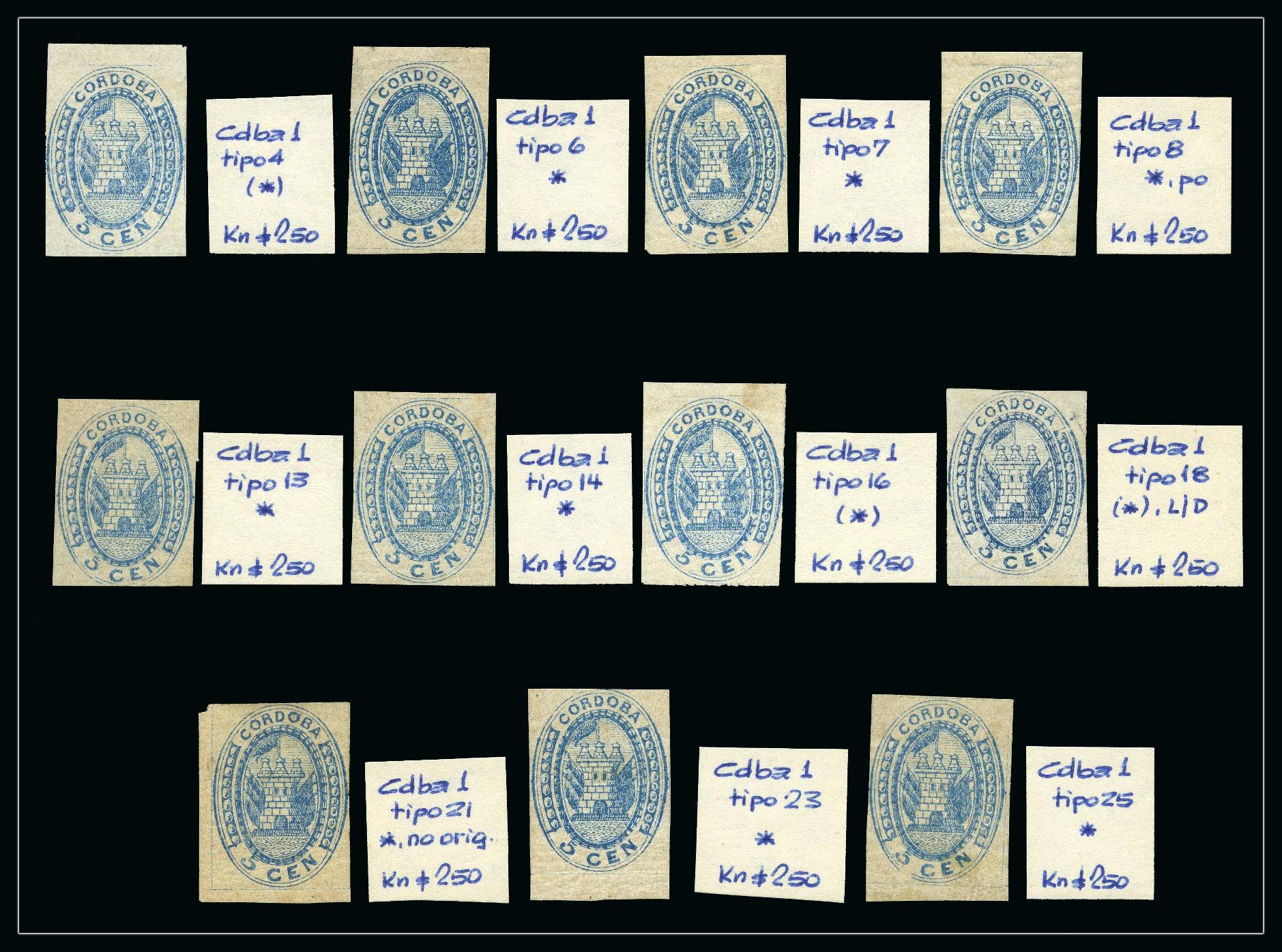 Lot 53008 - Argentina » Cordoba  -  David Feldman S.A. Overseas & Switzerland | Autumn Auction Series day 5
